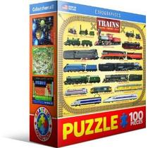 Jigsaw Puzzle - Trenes 100 Piezas Eurographics Mini