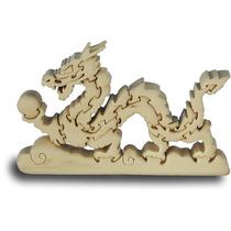 Dragón De Madera Puzzle - Handcrafted Childrens Juguete Jue