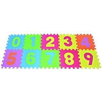 Rompecabezas Números Jugar Mat 10-azulejo Colorido Piso De E
