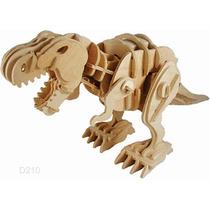 Rompecabezas 3d Dinosaurio T Rex Madera Sonidos Camina Robot