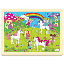 Jigsaw Puzzle - Hadas Y Unicornios 48pc Fiesta Crafts