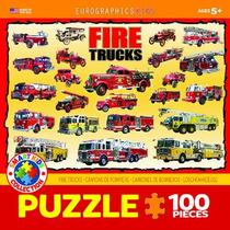 Jigsaw Puzzle - Camiones De Bomberos 100 Eurographics Piece