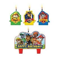 Patrulla De Cachorros Mini Candle Set (4 Piezas)