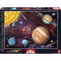 Rompecabezas Educa 1000 Piezas Neón Sistema Solar 14461