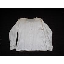 Blusa Blanca Algodón De Telar