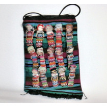 Bolsa Artesanal De Chiapas C/ 15 Muñecas Bordadas