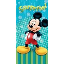 Toalla De Disney Mickey Mouse Playa Azul Sorpresa Toalla De