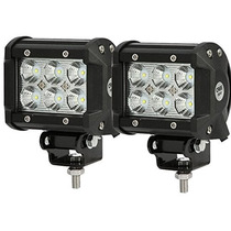 Tm Luces 2pcs 4 18w Cree Led Work Light Bar Flood Beam 60