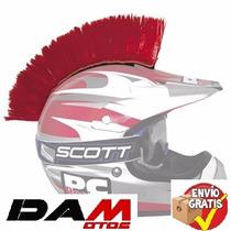 Moja Para Casco Accesorio Pc Racing Helmet Mohawk Red