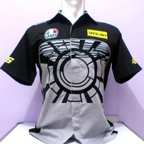 Camisa Valentino Rossi Vr46 Gray Sun Moon Pit Shirt