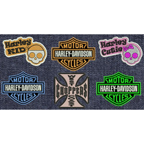 Harley Davidson Parches Bordados Bike Chopper Moto Gp