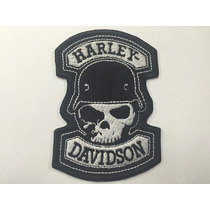 Parche Harley Skull Helmet Black Parche Biker