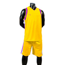 Uniforme Basketball Amarillo-morado Short/calcetas Galgo