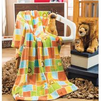 Cobertor Ligero Para Cuna Jungla Bebe Niño Vianney