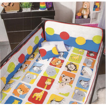 Set Edredón Para Cama Cuna Corral Baby Jungle