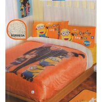 Minions Cobertor Ind Sarape Ninos 1pc Pelicula Regalo Colcha