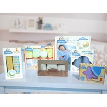 Kit Bebe Baby New Born Azul Unico Bm Baby Shower Baby Mink