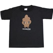 Grumpy Poo Juventud De Manga Corta T-shirt - Pequeño