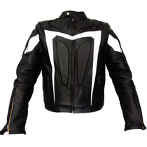 Chamarra De Piel Para Motociclista. Mod. Evolut