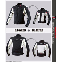 Chamarra Motociclismo Protecciones Komine Jk 038 Goretex