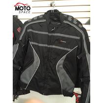 Chamarra Motociclista Furious Gris Tallas M,l,xl