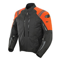 Chamarra Joe Rocket Proteccion Atomic 4 Naranja Impermeable