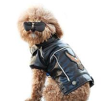 Vestido Para Perro Nacoco (tm) Pu Chaqueta De La Motociclet