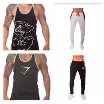 Ropa Gym Tanks Pants Playeras Olímpicas Golds Gym, Animal