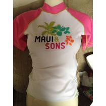 Playera Para Nadar Marca Maui & Sons Talla18 Años S
