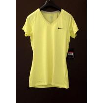 Playera Nike Pro Dri Fit, L Competition Base Layer. Neón