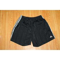 Short Adidas Negro Rayas Satinadas Talla Xl Soccer