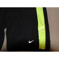 Nike Running Short Dri Fit Small Black And Green Vv4