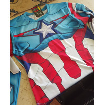 Playera Alter Ego Under Armour Capitan America Manga Larga