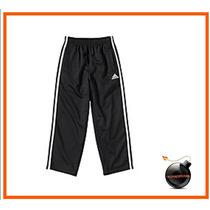 Pants Adidas Original Negro Franjas Blanca Talla 6 P/nino