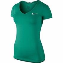 Blusa Nike Pro Cuello V Verde 589370-347