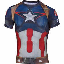 Playera Alter Ego Under Armour Avenger 2 Capitan America