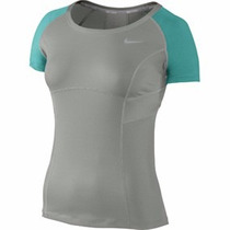 Nike Tennis Playera Deportiva Mujer Dri-fit Tenis Fitted
