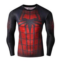 Playera Spiderman Super Heroes Avengers Dryfit Tarda 4 Semns