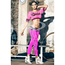 Leggin Supplex Talla Unica Babalu 24 Fucsia Neon 33783