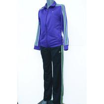 Conjunto Adidas De Mujer Pants Y Camarra, Cómodo Y Ligero