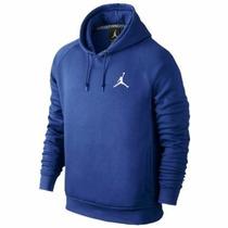Sudadera Jordan Brand Jumpman Brushed Po Azul Lisa