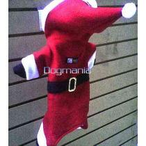 Disfraz Pants Santa Claus Con Gorro Talla 4 Ropa Para Perro