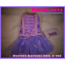 Lindo Vestidito Perritas, Diseño Exclusivo.disfraz Rapuzel