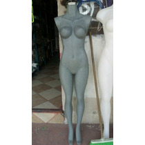 Maniquies Mujer Cuerpo Completo Fibra De Vidrio Base Piso