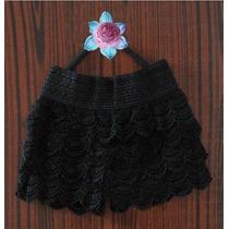 Short Falda, Úsalo Por Fuera, Modelo Retro Color Negro !