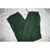 7 Apparel Pantalon Pijama Caballero Polar Verde Talla L
