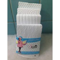 3 Mallas Caladas Para Niña Delgadas Blancas Talla 2/4 Años