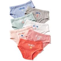 Old Navy Panties De Niña 7 Piezas De 2-3 Años Multicolor