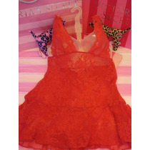 Victorias Secret The Red Halter Lace Baby Doll Sz S