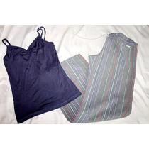 Calvin Klein Flounce Set Pijama Daman Rayas Talla Chica